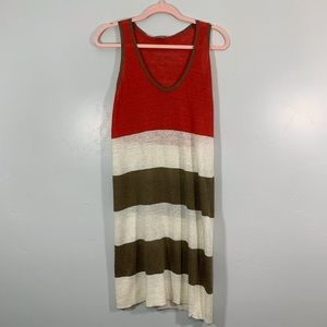 United Nations Colors | Red Cream Striped Tunic